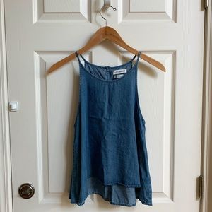 Native Youth chambray halter top, size S